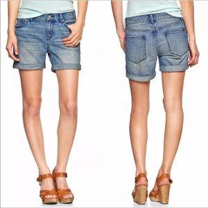 GAP Boyfriend Denim Cuffed Jean Shorts
